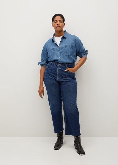 Прямые джинсы с завышенной талией - Carolina