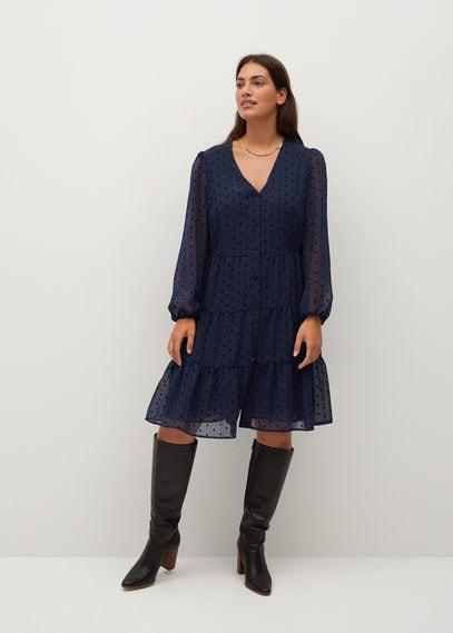 Платье с принтом в горошек - Capa8