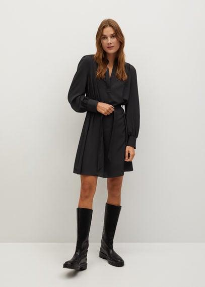 Платье-рубашка с ремешком - Basic