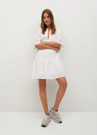 Ажурное платье из хлопка - Ramito-h