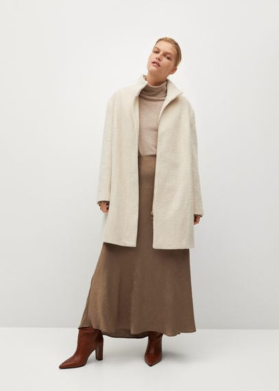 Пальто с воротником-стойкой - Bucle