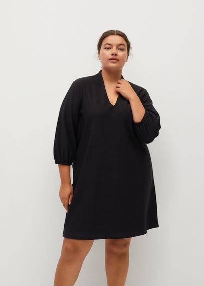 Короткое платье с V-образной горловиной - Jan