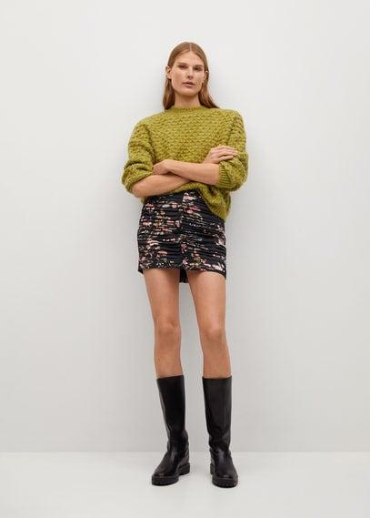 Мини-юбка с принтом и сборками - Lover