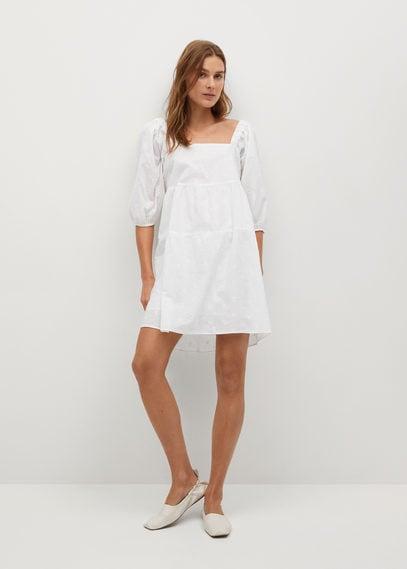 Ажурное платье из хлопка - Mellow-h