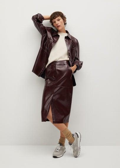 Лаковая юбка-карандаш - Boli