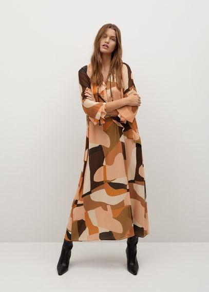 Струящееся платье с принтом - Paloma-a