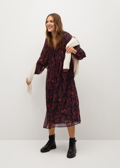 Струящееся платье с принтом - Siam