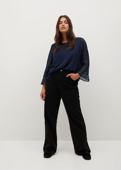 Блузка с принтом в горошек - Capa8