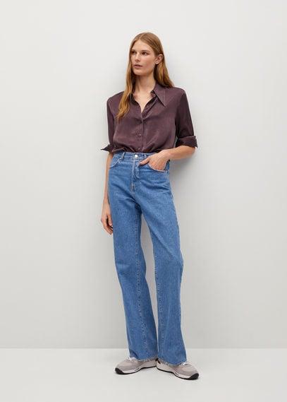 Атласная рубашка с пуговицами - Largui-i