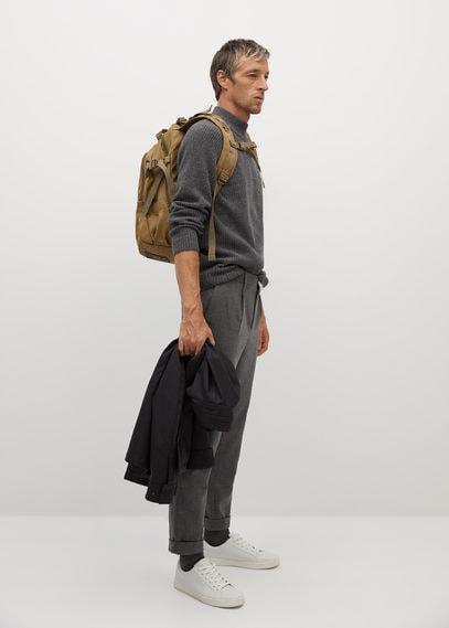 Нейлоновый рюкзак с множеством карманов - Japan