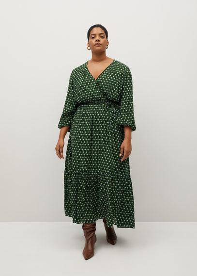 Миди-платье с геометрическим принтом - Madrid