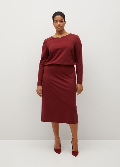 Прямое платье из плотного трикотажа - Sophie