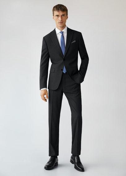 Костюмные брюки regular fit с мелкой фактурной выделкой - Janeiro