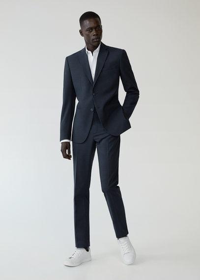 Костюмные брюки slim fit из шерсти - Travel