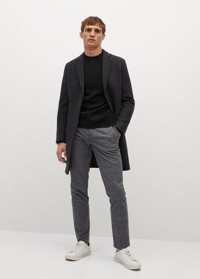 Хлопковые брюки slim fit в клетку - Brest