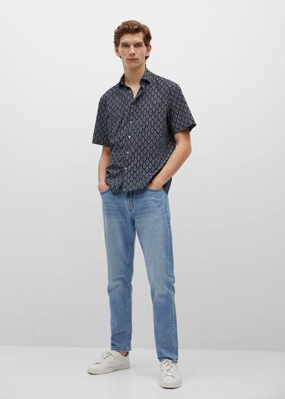 Приталенная рубашка с принтом - Seta