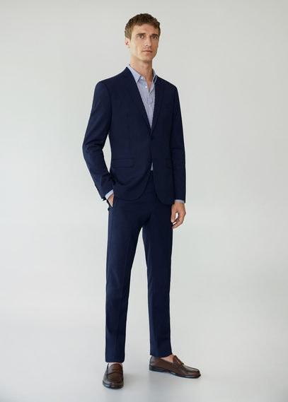 Костюмный пиджак super slim fit с мелкой фактурной выделкой - Paulo