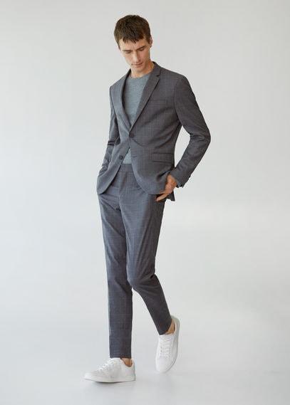 Костюмные брюки super slim fit в клетку - Paulo