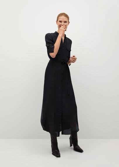 Длинное платье-рубашка - Ningbox-i
