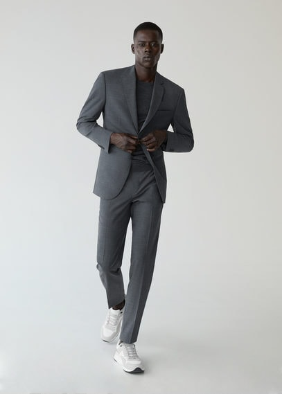 Костюмный пиджак slim fit из шерсти - Travel