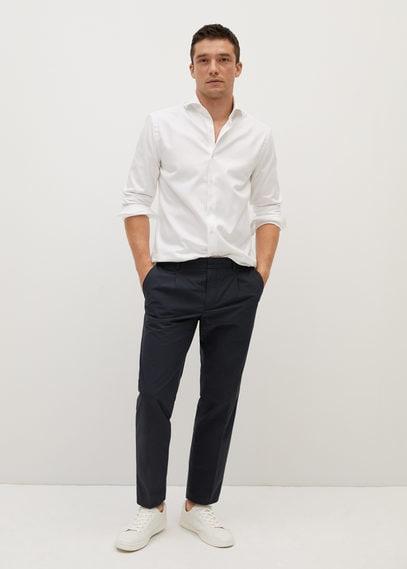 Хлопковая рубашка Tailored slim fit - Bevis