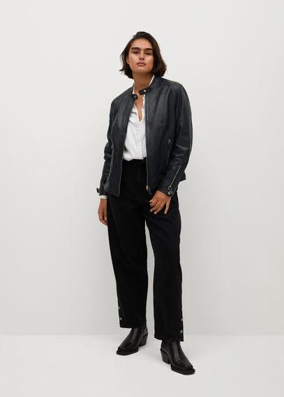 Кожаная байкерская куртка - Chelsea7