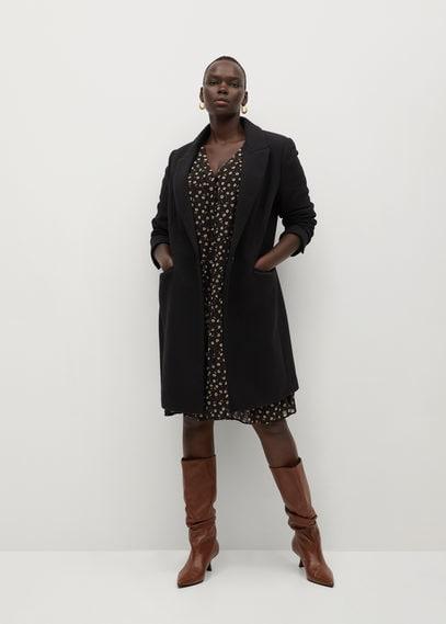Структурированное пальто из шерсти - Basic7