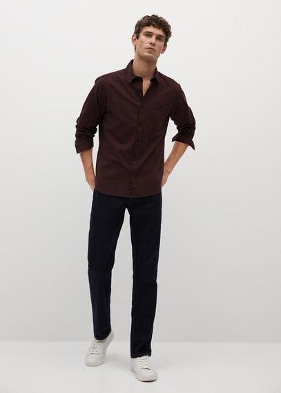 Фланелевая рубашка regular fit в клетку - Beijin