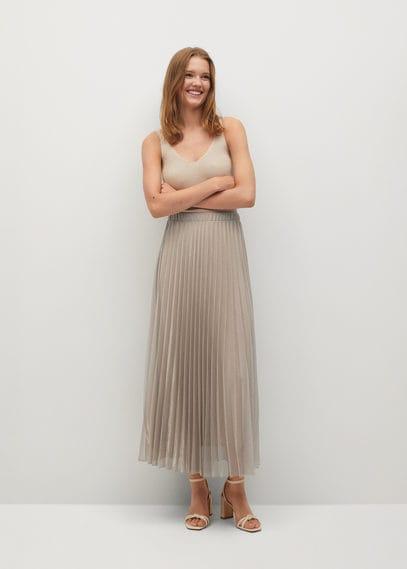 Плиссированная юбка металлик - Breeze-a