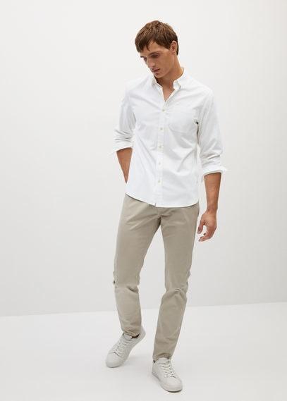 Хлопковая рубашка slim fit хлопок и модал - Twill