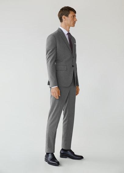 Костюмные брюки slim fit с мелкой фактурной выделкой - Brasilia