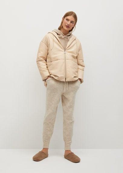 Стеганое пальто из кожи - Sunny-i
