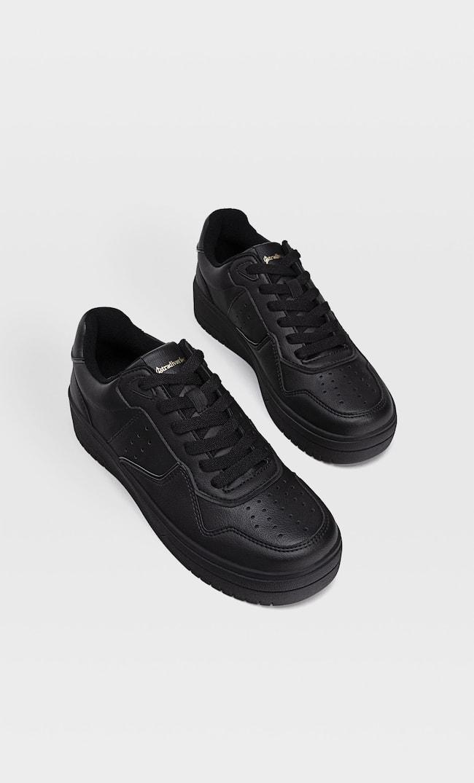 Черные Кроссовки Со Вставками Женская Коллекция Черный 38