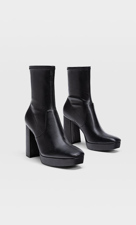 Эластичные Ботинки Челси На Платформе Женская Коллекция Черный 38