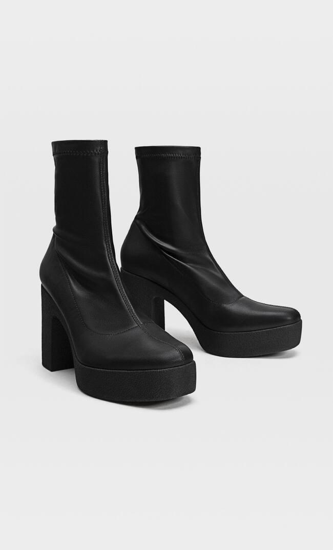 Эластичные Ботинки Челси На Платформе Женская Коллекция Черный 41