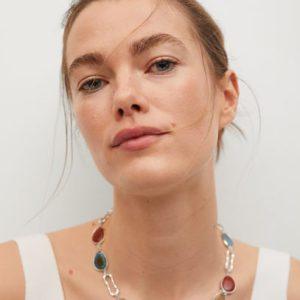 Ожерелье со звеньями и камнями - Hansi