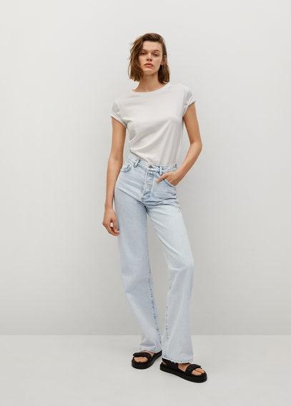 Прямые джинсы с завышенной талией - Kaia