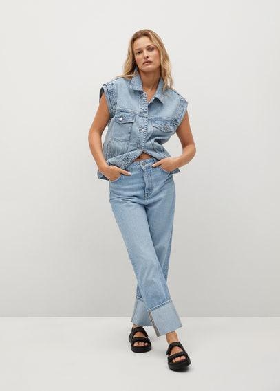 Прямые джинсы до щиколотки - Angy