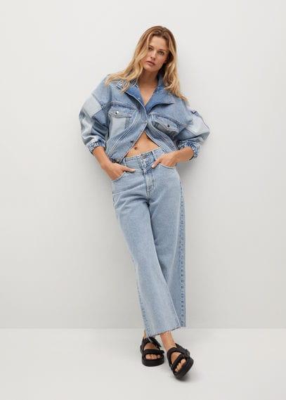 Укороченные джинсы wideleg - Julieta