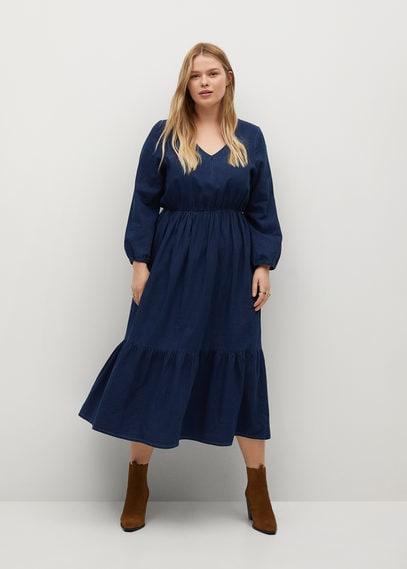 Платье-клеш из денима - Joelle