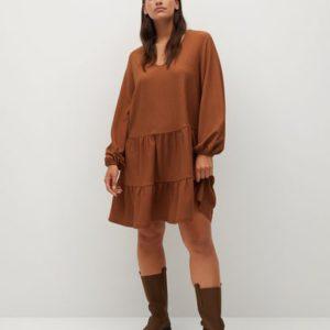 Короткое платье-клеш - Deluca