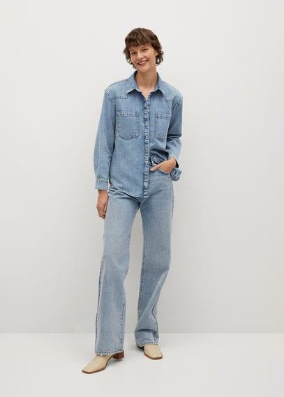 Джинсовая рубашка из хлопка - Sira