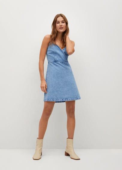 Джинсовое платье на бретельках - Moni-h
