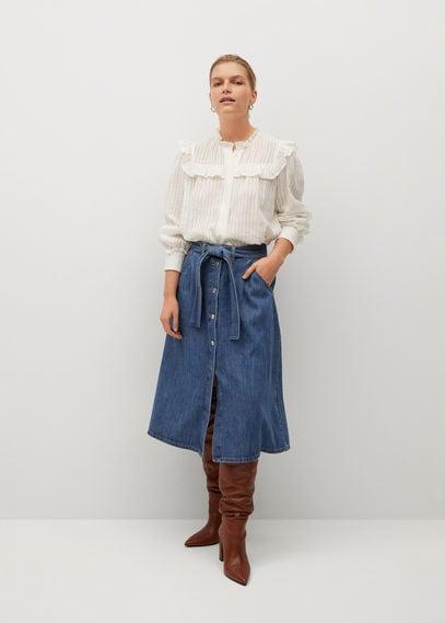 Джинсовая юбка-клеш - Lolita